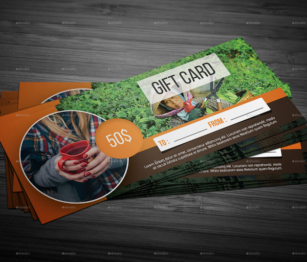 Gift Cards Landscape Template