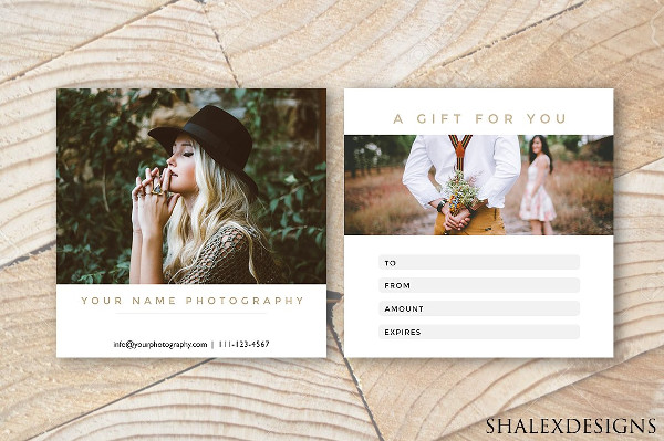 Gold & White Gift Certificate Photography Template