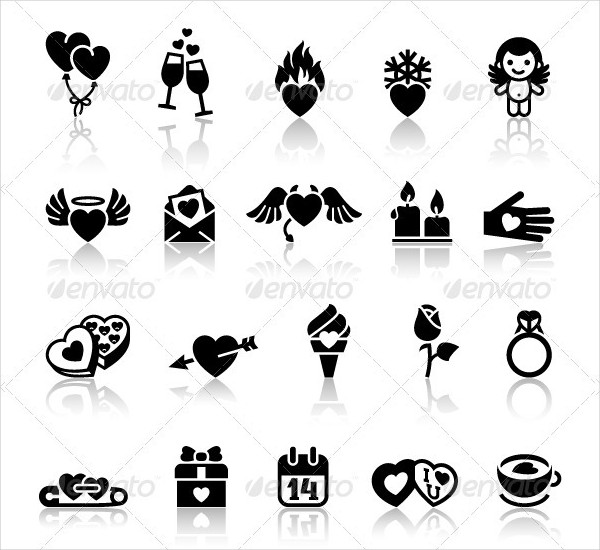 105 Popular Love Icon Set