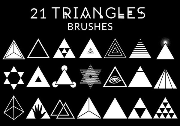 21 Free Triangles Brushes