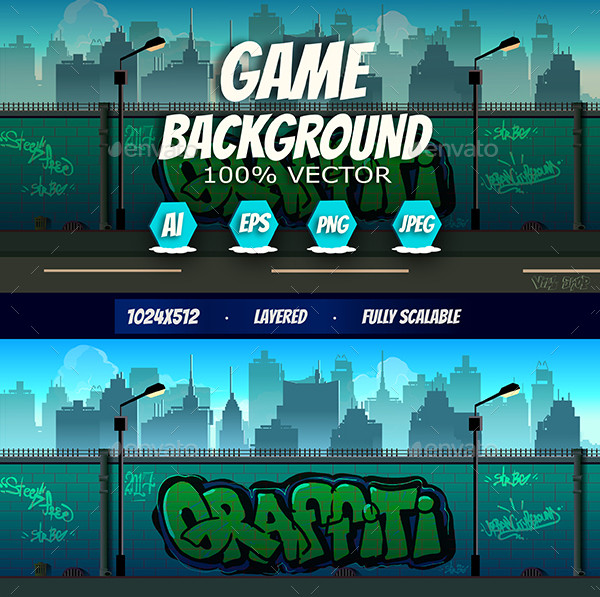 2D Graffiti Game Background