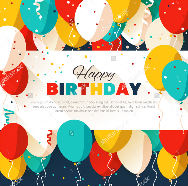 Colorful Birthday Announcement Poster Template