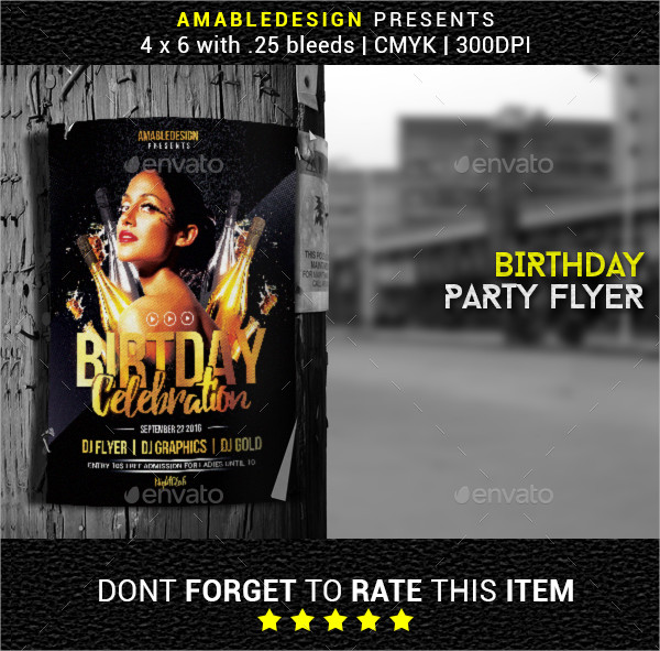 Attractive Birthday Poster Template