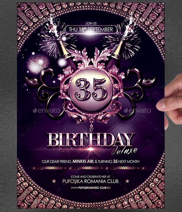 Amazing Birthday Poster Template