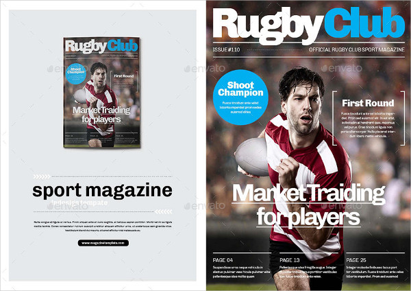 Rugby Sports Club Magazine Template