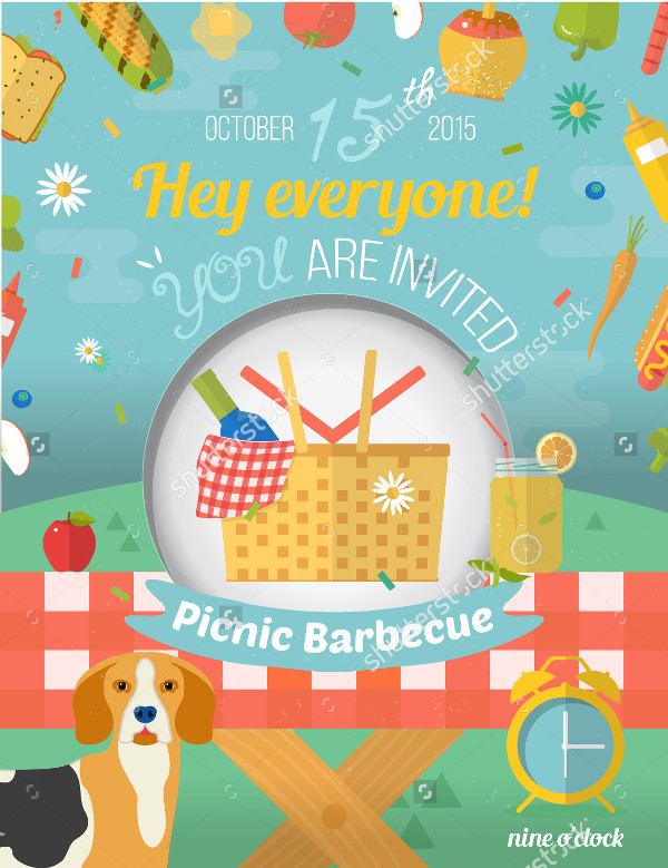 Picnic Invitation Template   Psd Ai Eps Vector Format Download