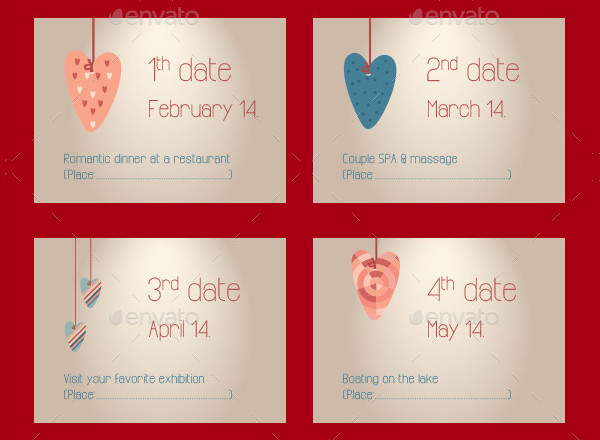 Anniversary Gift Coupon Card Templates