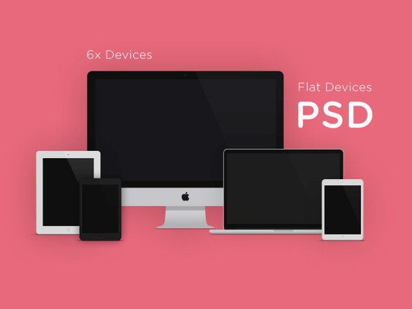 Apple Flat Devices MockUps Free Download