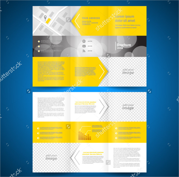 Clean Trifold Brochure Template