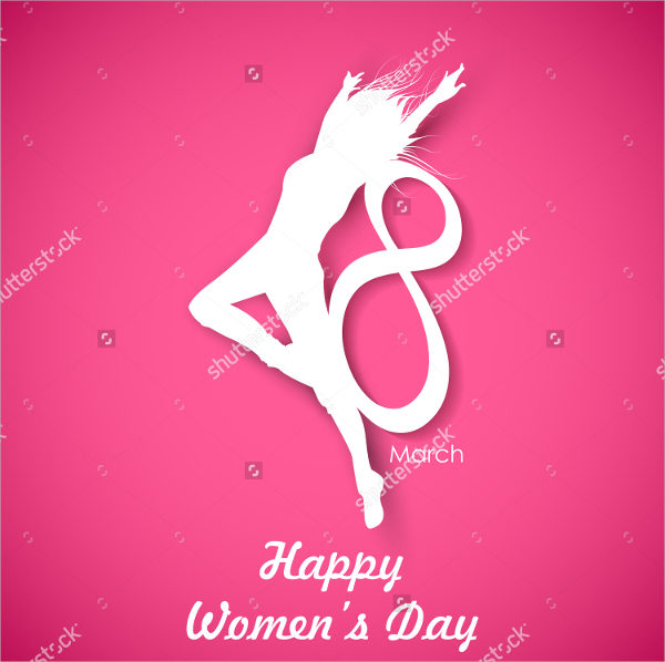 Attractive Women's Day Greeting Card