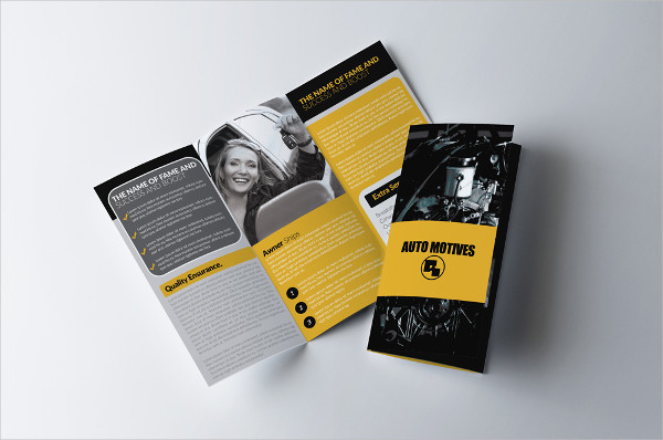Automobile Service Tri-Fold Brochure Template