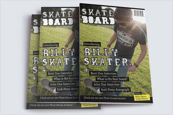 Awesome Skateboard Magazine Template
