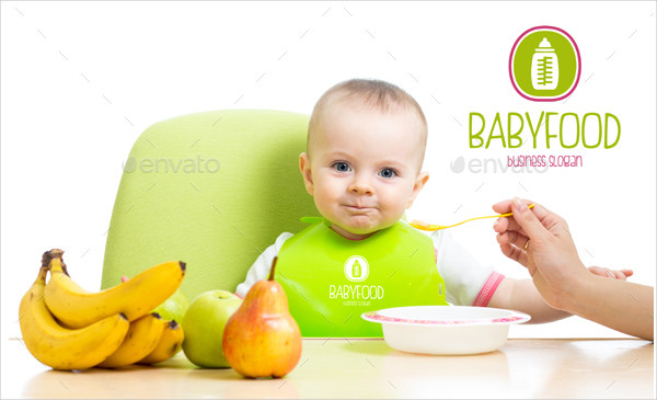 Cute Baby Food Logo Template