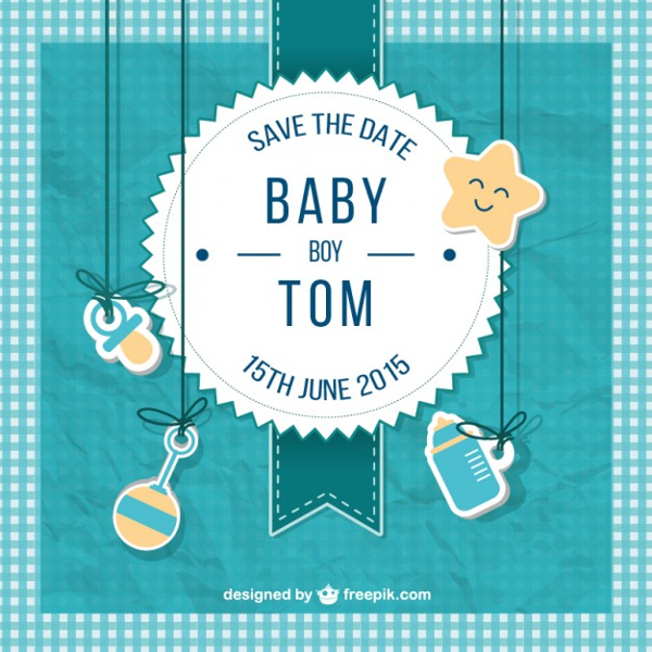 Baby Shower Cards for Boy Free
