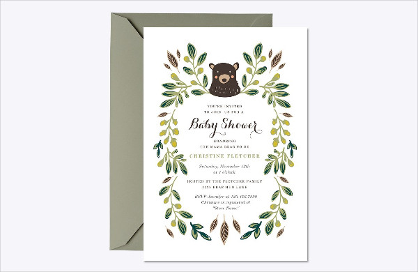 Baby Shower Invite Digital Template