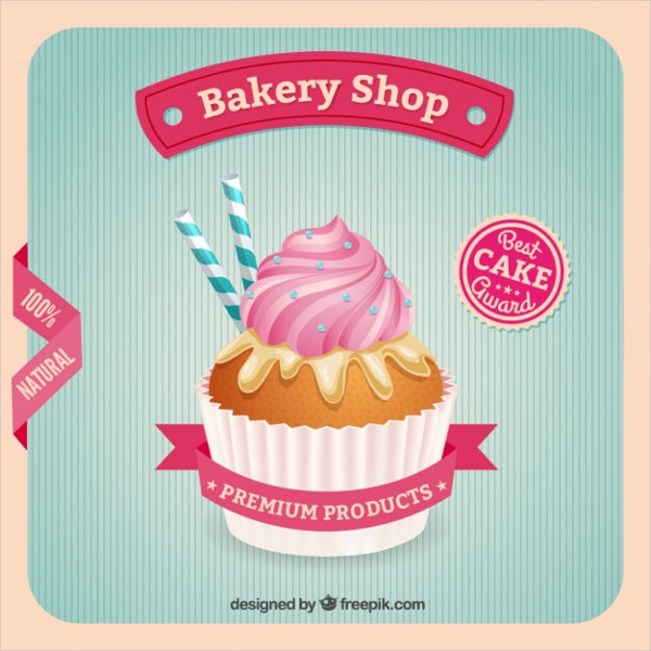 Bakery Shop Poster Template Free Vector