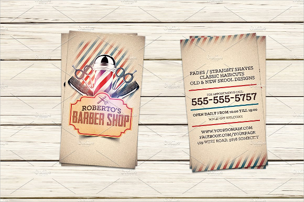 Barber Shop Visiting Card Template
