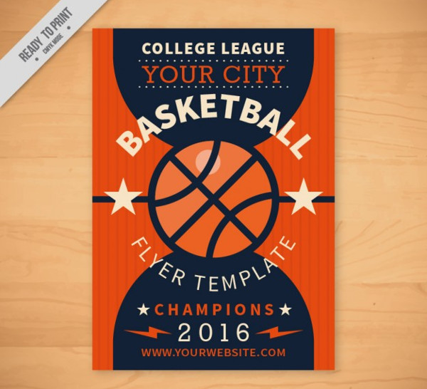 Free Vector Flyer Template For Basketball  Flyer Layouts Free