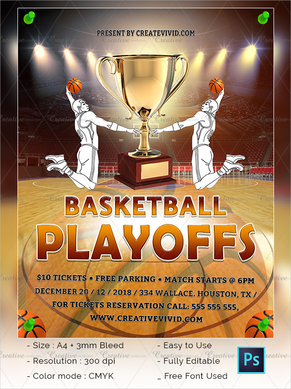 Unique Basketball Flyer Template