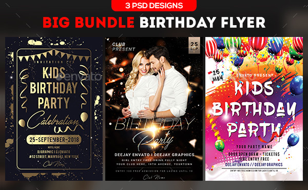 birthday flyer templates
