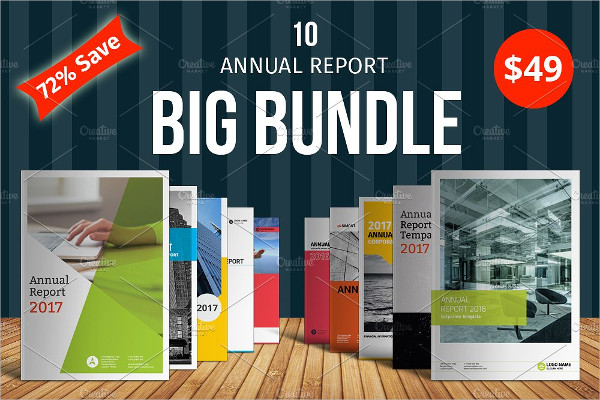 Big Business Annual Report Templates Bundle