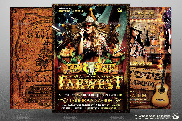 Big Western Flyer Templates Bundle