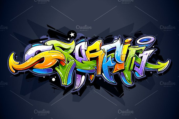 Bright Graffiti Lettering Background