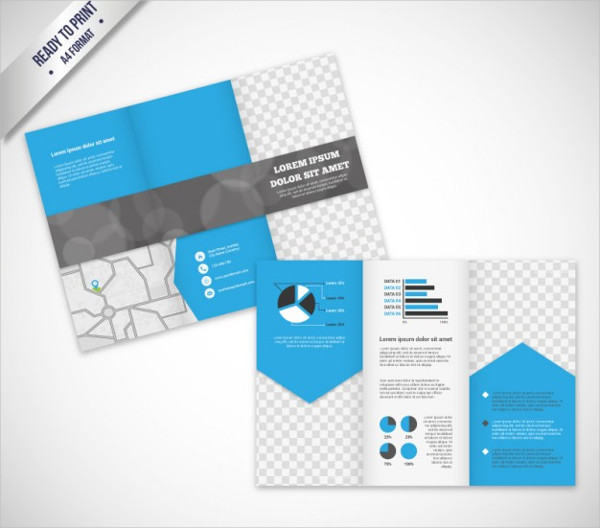 Brochure Template in Modern Style Free Vector
