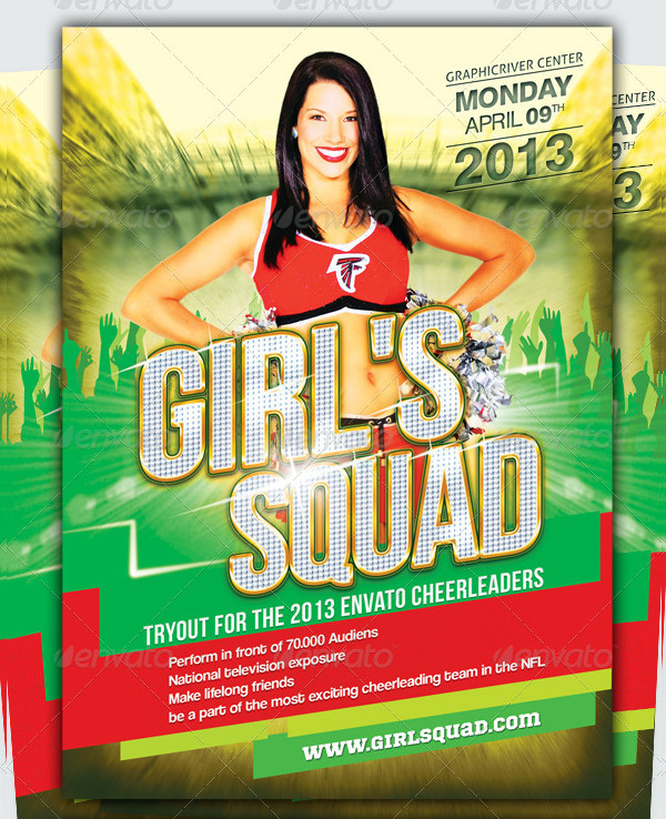 Cheerleader Audition Event Flyer Template