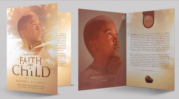 25 Funeral Program Templates Free PSD AI EPS Format Download – Child Funeral Program Template