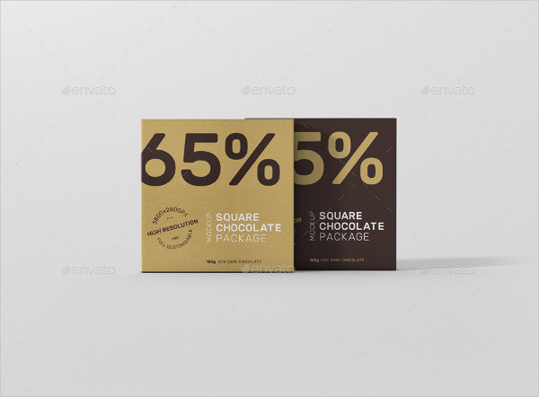 Chocolate Packaging Design in Square