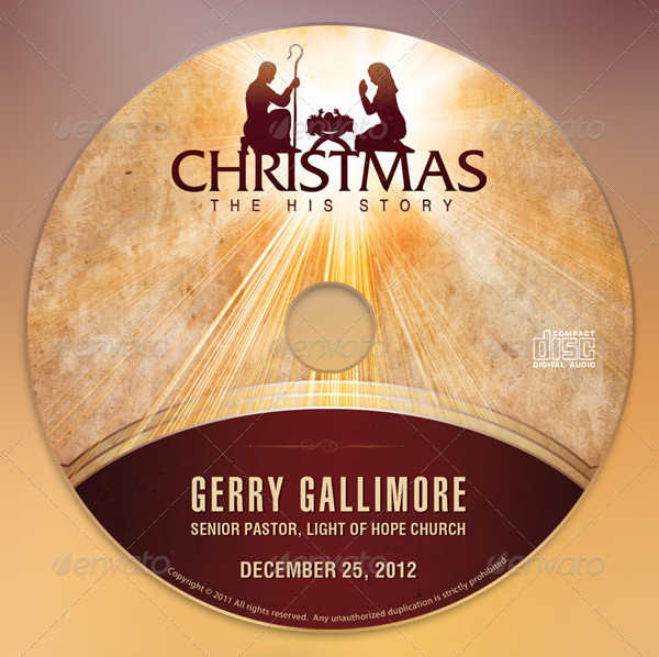 Christmas Story CD Label Template
