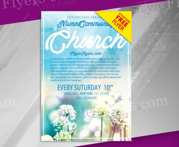 free church flyer templates download