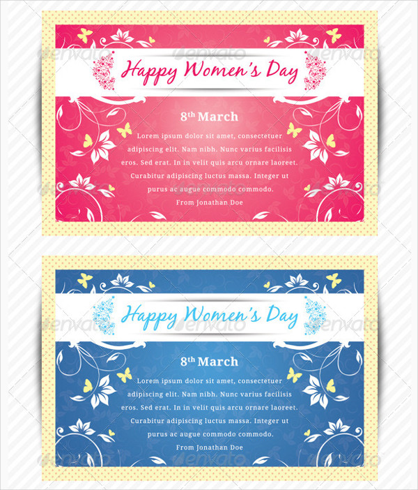 Clean Womens Day Greeting Card Design