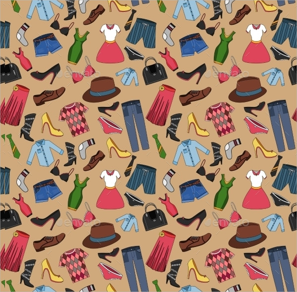 Male and Female Fashion Clothes Seamless Pattern