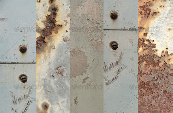 Collection of 5 Different Grungy Metal Textures
