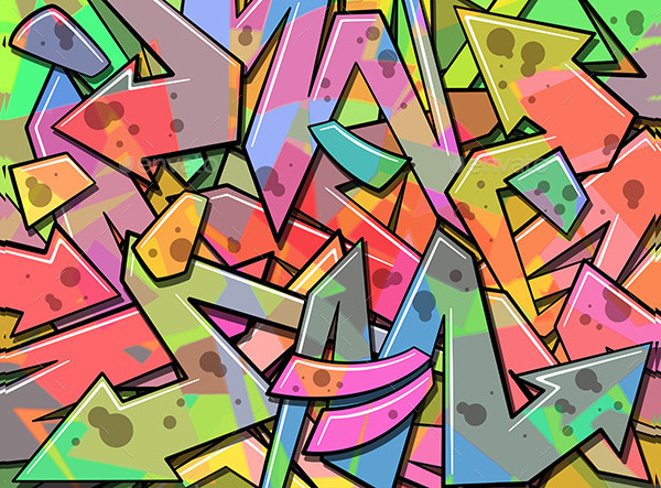 Colorful Graffiti Background