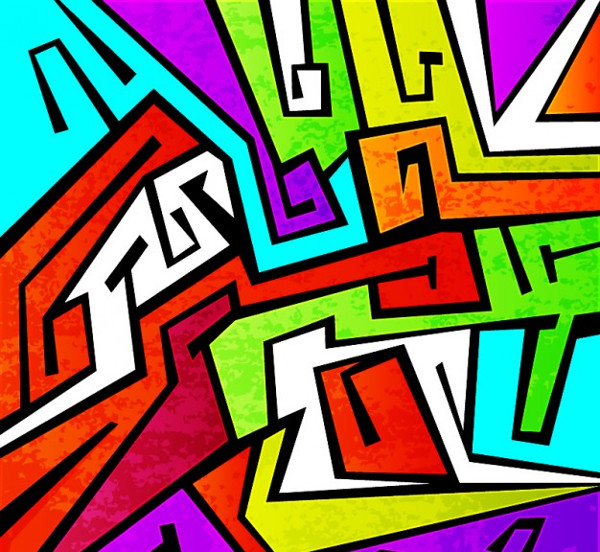 Colorful Graffiti Vector Background Free