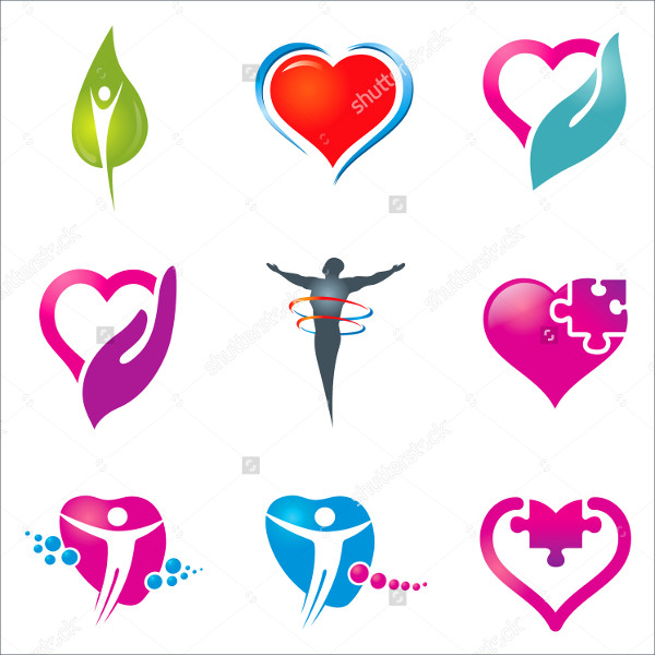 Colorful Love Health Care Icons