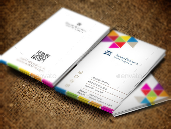 Colorful Visiting Cards Template