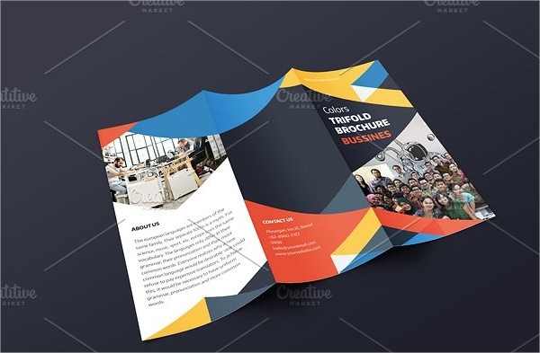 Colors Trifold Brochure Template