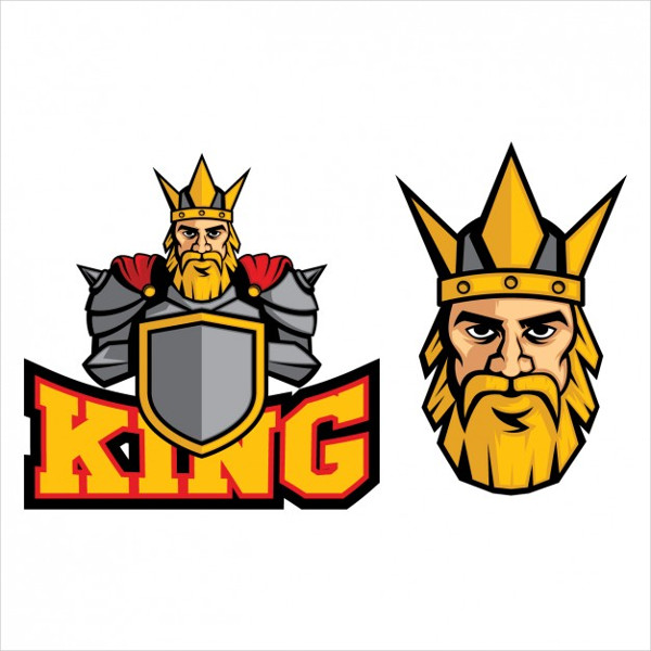 King Colored Design Logo Template Free