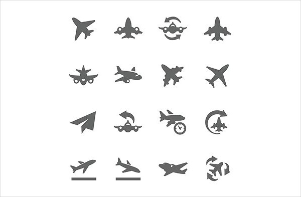 Simple Set of Planes Icons