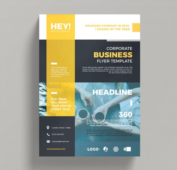 Creative Corporate Business Flyer Template Free PSD