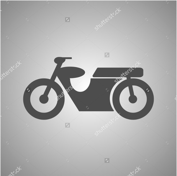 Custom Motorcycle Icon Vector