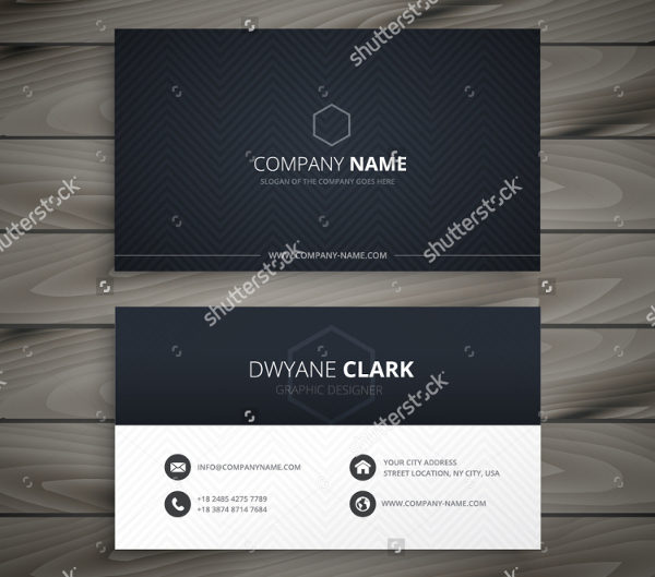 Clean Dark Business Card Template