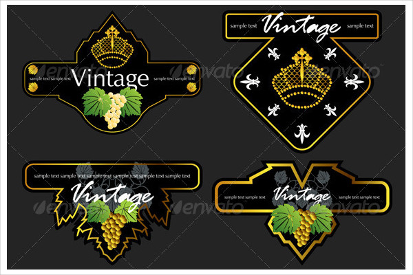 Decorative Wine Label Templates