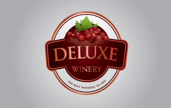 Deluxe Winery Label Template Free Vector