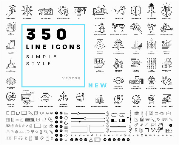 350 Small Business Icon Bundle