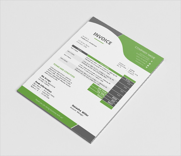 Corporate Business Invoice in Docx